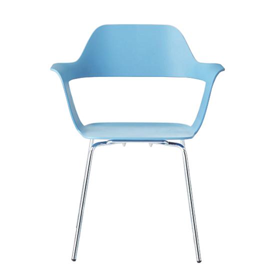 MU 沐_四腳堆疊椅/淡藍沐