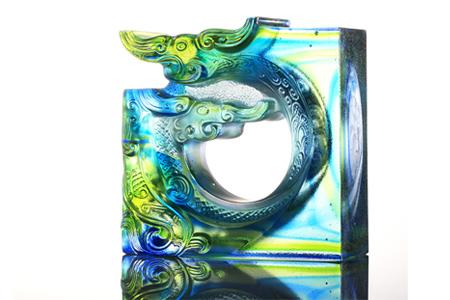 【琉璃工房】謙遜之心╱藍綠透/藍綠透