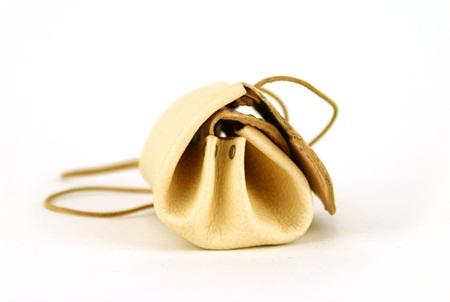 手工皮革小折包