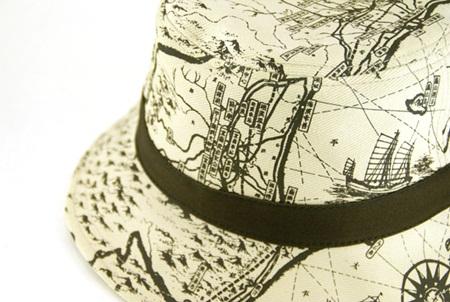 地圖漁夫帽