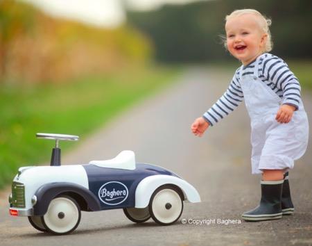 法國 Baghera 藍白小跑車(禮盒版)