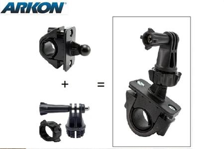 GoPro HERO運動相機專用自行車、機車把手固定座 (Arkon GP132)