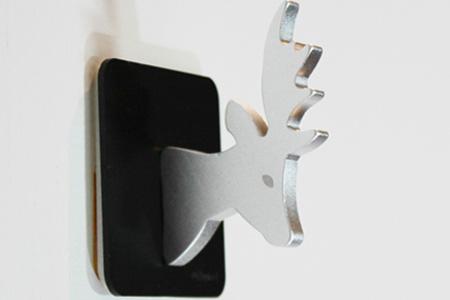 【Desk+1】麋鹿掛鉤 3入