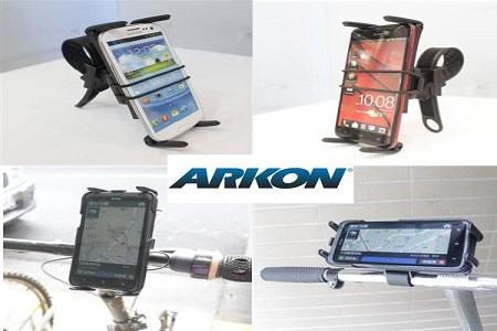 【ARKON】SM634 平板電腦用快捷調整帶腳踏車/ 機車車架組