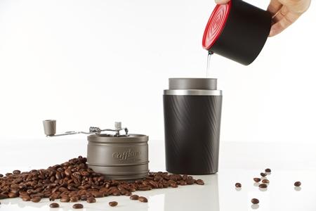 研磨咖啡杯-韓國Cafflano 隨身All-in-One 手沖研磨咖啡杯/紅