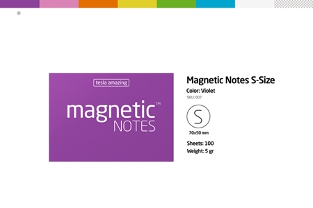 磁力便利貼 Magnetic NOTES-S-Size 綠色/綠色