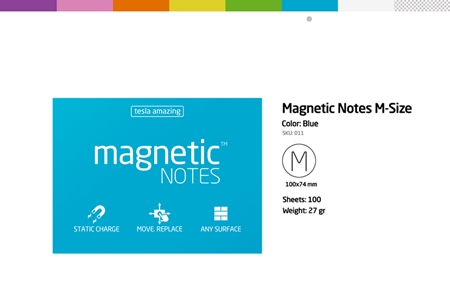 磁力便利貼 Magnetic NOTES-M-Size 粉紅色/粉紅色