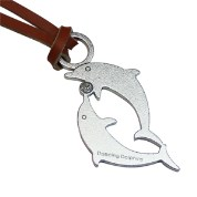 【Desk+1】動物莊園鑰匙圈吊飾-海豚*2入