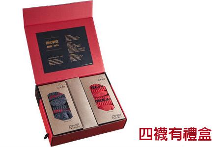 商周x黑狗兄 高透氣慢跑機能襪/灰M*4 (禮盒)