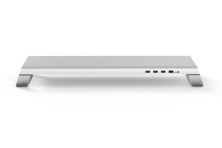 miniS 多功能螢幕架 (USB 3.0+充電底座)/銀色