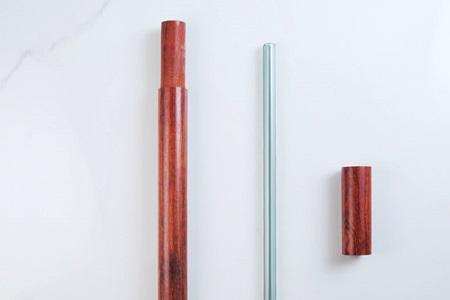 尖口無毒彩色玻璃吸管20cm+花梨木收納盒S/吸管色02.透明