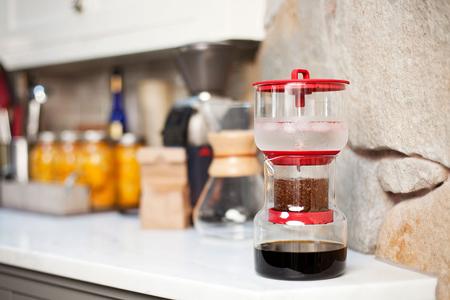 冰滴冷泡咖啡萃取壺-紅色/紅色