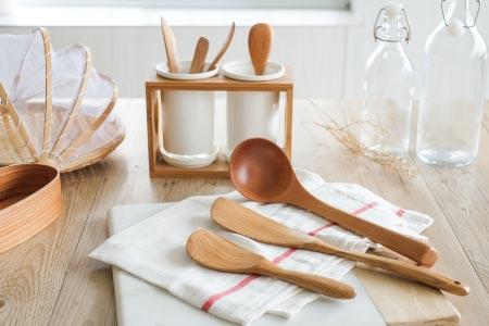 Linkife木質廚具三件組+竹瓷瀝水架