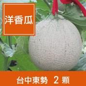 台中東勢【藍寶石洋香瓜】2顆禮盒裝(約5台斤)