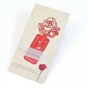 【Desk+1】薔薇書籤(紅色) 七夕傳情-限量免費刻字