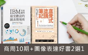 【短期訂閱】新訂商周(紙本)10期,加贈圖像表達好書2選1